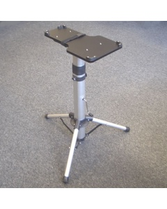 Adjustable height steam press stand