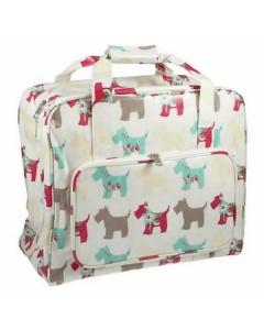 Blue Polka Dot Sewing Machine Bag