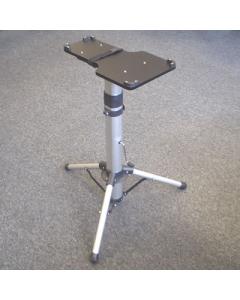 Adjustable height steam press stand