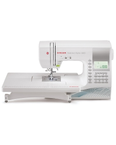 Singer Quantum Stylist 9960 sewing machine with emtension table