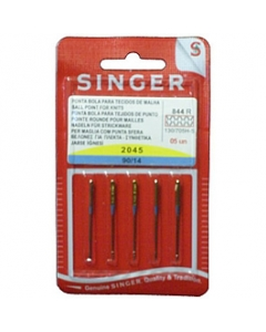 Ball point sewing machine needles