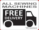 Free delivery on Sewing machines and orders over £25